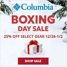 Columbia Sportswear Canada Boxing Day Sale: Save 25% Off! http://www.lavahotdeals.com/ca/cheap/columbia-sportswear-canada-boxing-day-sale-save-25/158490?utm_source=pinterest&utm_medium=rss&utm_campaign=at_lavahotdeals