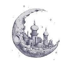 Znalezione obrazy dla zapytania moon drawing