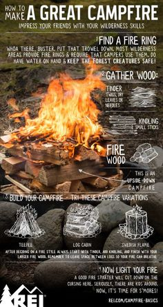 How to make a great campfire. camping ideas How to Make a . How to make a great campfire. camping ideas How to Make a . How to make a great campfire. camping ideas How to Make a Great Campfire - Camping Diy, Camping Bedarf, Camping Survival, Outdoor Survival, Family Camping, Outdoor Camping, Camping Outdoors, Camping Guide, Camping Checklist