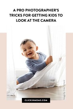 Do your kids run away or hide their faces as soon as they see the camera? Use these tricks from a pro to get perfect eye contact in all your photos! #clickinmoms #photography Family Photography Outfits, Extended Family Photography, Outdoor Family Photography, Children Photography, Photography Tutorials, Photography Poses, Baby Smiles, Kids Running, Edit Your Photos