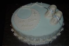 """Baptism Cake (boy)  """"Booties and Bib"""" by It's All About the Cake, via Flickr"""