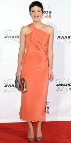 Maggie Gyllenhaal in Roland Mouret from #InStyle