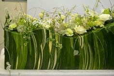 wavy flax structure Via Blom BLoemwerk Op Maat Flower Centerpieces, Flower Vases, Flower Show, Flower Art, Flower Arrangement, Floral Arrangements, Art Base, Arte Floral, Ikebana