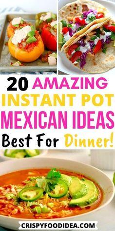 Mexican Food Recipes, Yummy Recipes, Crockpot Recipes, Soup Recipes, Chicken Recipes, Ethnic Recipes, Easy Pressure Cooker Recipes, Instant Pot Pressure Cooker, Instant Pot Dinner Recipes