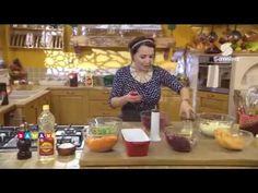 لمسة شهرزاد : سلطة البطاطا على شكل كيك | بيتزا البطاطا و اللحم المفروم | مافن بالبطاطا - Samira Tv - YouTube
