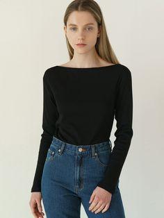 Black Button Up Shirt, Button Up Shirts, Boat Neck, Neck T Shirt, Feminine, Denim, Fabric, Model, Cotton