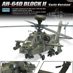 "[Academy] 1/72 AH-64D BLOCK2 ""Early Version"" Plastic Model Kit 12514 #ACADEMY"