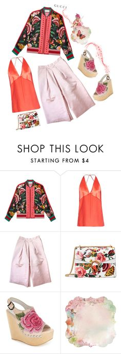 """Presenting the Gucci Garden Exclusive Collection: Contest Entry"" by dianefantasy ❤ liked on Polyvore featuring Gucci, Dion Lee, Etrala London, Jeffrey Campbell, Kaiser, gucci, polyvorecommunity and polyvoreeditorial"