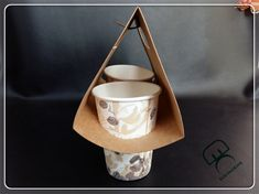 Flat Packing Cup Holder Paper Bag Coffee To Go Cup - Buy Cup ...