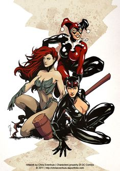 Gotham City Sirens  by ~ChrisEvenhuis