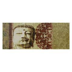 Oriental Furniture Buddha Bust Canvas Wall Art - CV-ART-BUD8