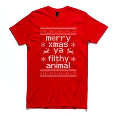 ccf835f3 Excellent Screen Printers · DTG (Direct To Garment) · Ya Filthy Animal.  Custom Home Alone Inspired Xmas Art for your custom t-shirt