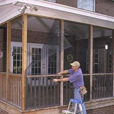 Faster Way To Install Porch Screens Screened In Diyscreened Designspool