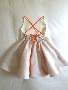Patchwork+Quilt+Dress+in+Blush+Pink+Linen+by+HarrietsHaberdashery,+$92.00