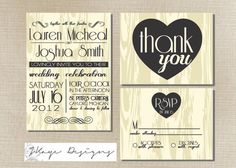 SALE  DIY Printable Wedding Invitation by milestogodesigns on Etsy, $35.00