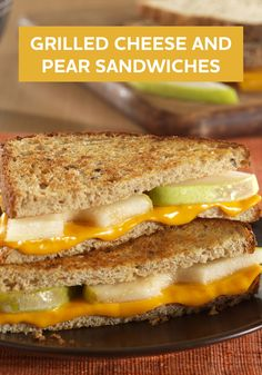 These Grilled Cheese and Pear Sandwiches are delicious. Plus, it's a ...