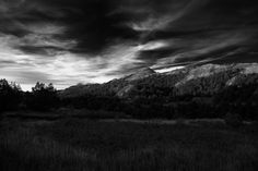 Hills and Clouds - instagram.com/caleb.johnson7 Black and white landscape shot…