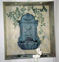 Mural in Niche, Trompe l'oeil, Art, Painting by Louise Moorman