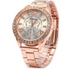 #RoseWholesale - #Rosewholesale Kanima Male Diamond Quartz Watch - AdoreWe.com
