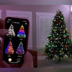 Silver Christmas Decorations, Unique Christmas Trees, Christmas String Lights, Noel Christmas, Christmas Crafts, Xmas, Christmas Ornaments, Christmas Videos, Diy Animated Christmas Lights