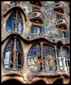 Art Nouveau architecture, Gaudi, Barcelona.