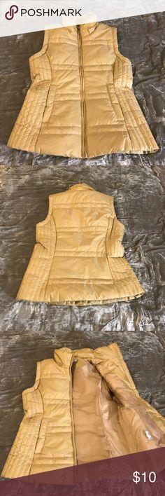 New and Company tan vest sz S New York and Company nylon and polyester tan vest sz S.  Great condition, like new. New York & Company Jackets & Coats Vests