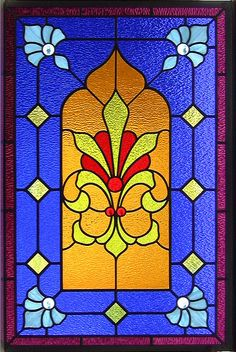 Easy Stained Glass Windows   Simple Victorian Stained Glass Window