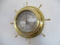 Beautiful Vintage Barigo Ships Wheel Brass Barometer Made In Western Germany in the Barometers & Thermometers category was listed for on 26 Dec at by OomFranssegoed in Hermanus