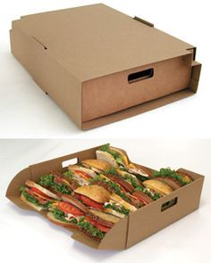 For Corporate Lunches - Large Catering Transport Trays, Stackable - Biodegradable/Recyclable - $4.64/ea