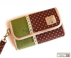 Wallet sewing pattern clutch sewing pattern by NapkittenPattern