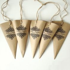 Favour bags sweet cones wedding favours set of 5 by shintashop, £5.00
