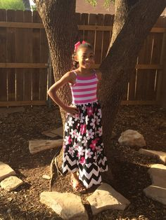Custom Boutique Maxi Tank Dress with Pink by JustSewStinkinCute, $50.00