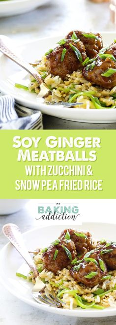 Soy-Ginger Meatballs with Zucchini and Snow Pea Fried Rice will please everyone at your table. They'll ask for seconds!