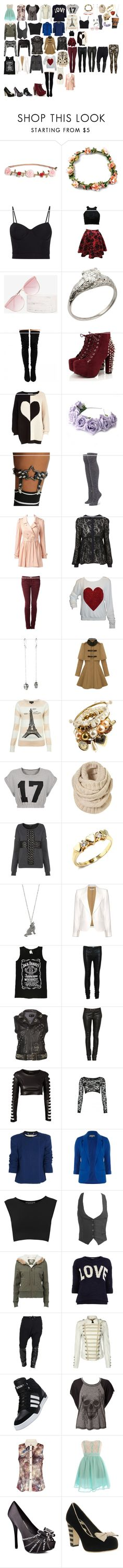"""Packing for oppas"" by royalsinthedark ❤ liked on Polyvore featuring H&M, Alexander Wang, Quay, River Island, LOTTA, Hot Topic, Stance, Forever New, Current/Elliott and Wildfox"
