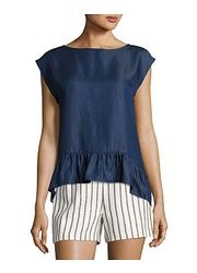 Laundry by Shelli Segal Slouchy Ruffle Cropped Blouse found on sale at LAST CALL BY NEIMAN MARCUS 2 days ago
