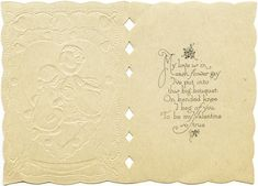 To My Love ~ Free Victorian Valentine Greeting Card (inside message)
