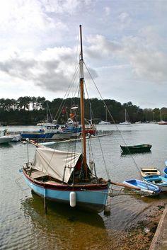 """Vieux gréement du """" Corsaire Patrice """" Port Anna en Séné dans le Golfe du Morbihan (56) France"""