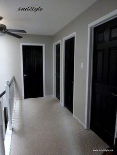 Upper Hall Black Interior Doors