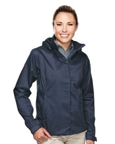 Womens 100% Polyester Twill Hooded Jacket. Tri mountain 6160 #Jacket  #winterwear #HoodedJacket