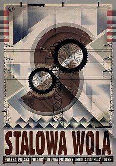 Stalowa Wola, plakat z serii Polska, Ryszard Kaja