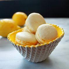 Lemon Macarons with Lime Curd