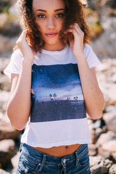 Brandy ♥ Melville | Sammy USA Top - Graphics Warm Weather Outfits, Fall Winter Outfits, Summer Outfits, Summer Clothes, Pretty Outfits, Cool Outfits, Casual Outfits, Casual Wear, Pacsun Outfits