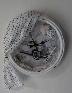 Decorative Clock a'la french vintage by MagicThreadByNatalia