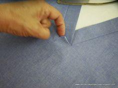 rematar-escote-V - Best Pins Live Sewing Basics, Sewing Hacks, Sewing Tutorials, Tutorial Sewing, Clothing Patterns, Dress Patterns, Sewing Patterns, Tailoring Techniques, Sewing Techniques