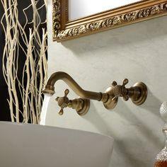 Inspiration Web Design Lightinthebox Two Handle Wall Mount Antique Inspired Solid Brass Bathroom Sink Faucet Lavatory Vanity Bathtub