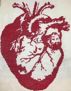 Anatomical Heart Cross Stitch - Pattern By StitchesLittle