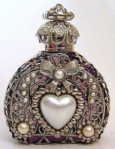 ** Vintage Czech - Hand made perfume bottle **