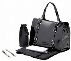 OiOi Jet Patent Leather Tote Diaper Bag - Style 6611 Dimensions: x x Features of this item include: Top Handle. Fashionable Diaper Bags, Baby Changing Bags, Changing Pad, Baby Flower Headbands, Online Bags, Black Patent Leather, Tote Bag, Purses, Jet