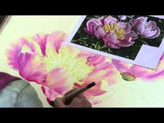 """Preview of """"Pink Peonies in Watercolours"""" by Marianne Broome"""