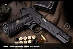 NEW GUN!! Wilson Combat's Hackathorn Special 1911 | .45 ACP Handgun   Read more, check out picture gallery, then LIKE & SHARE: http://www.personaldefenseworld.com/2014/02/wilson-combats-hackahtorn-special-1911-45-acp-handgun/  #handgun #pistol #everydaycarry #gun #wilsoncombat